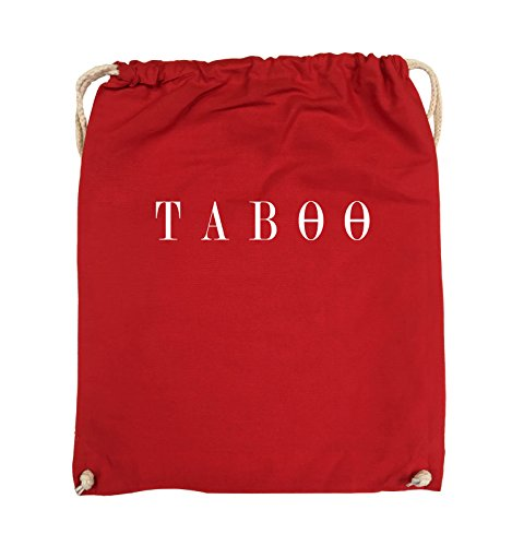 Comedy Bags - TABOO - LOGO - Turnbeutel - 37x46cm - Farbe: Schwarz / Pink Rot / Weiss