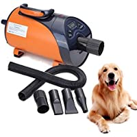 Ridgeyard soffiatore per cani Asciugacapelli cane Low Noise LED Display 8 livelli velocità 2800 W Animali Dryer Grooming