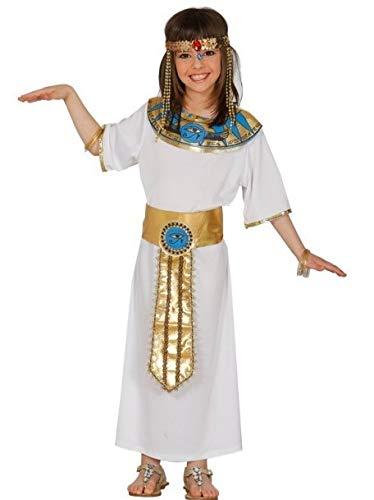 Disfraz de Faraona Egipcia en varias tallas. Incluye cuello, vestido y cinturón. Resto de complementos NO incluidos. Completa este disfraz de Cleopatra con artículos de nuestra sección de accesorios como pulsera, pendientes, peluca, cinta para para c...