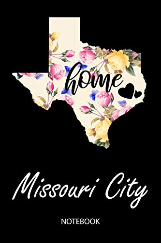 Home - Missouri City - Notebook: Blank Personalized Customized City Name Texas Home Notebook Journal Dotted for Women & Girls. TX Texas Souvenir, ... / Birthday & Christmas Gift for Women. Missouri State Flag Patch