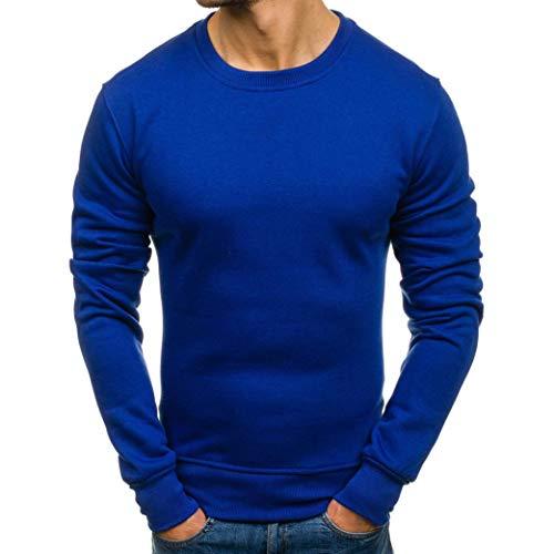MIRRAY Herren Herbst Winter Langarm Casual Solid Sweatshirt Top Bluse Trainingsanzüge