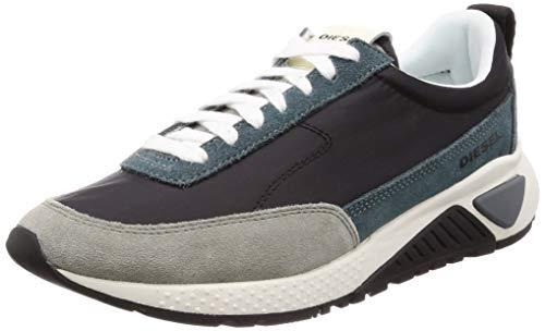 Diesel Herren SKB S-KB LOWLACE Turnschuh, Balsam Green/Black, 44 EU M Black Multi Suede Schuhe