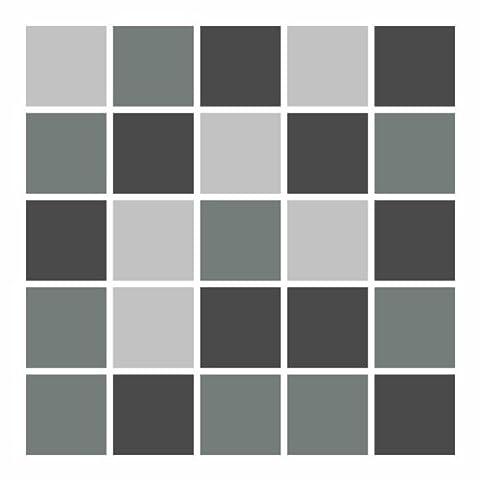 Autocollant en tuile FoLIESEN pour salle de bain et cuisine - 10x10 cm - Mosaïque gris - 12 autocollants pour les carreaux de murs