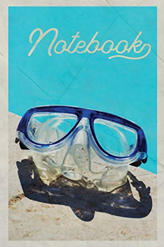 Notebook: Scuba Goggles Buceo Charming Composition Book Journal Diary for Men, Women, Teen & Kids Vintage Retro Design for creating diving equipment list -