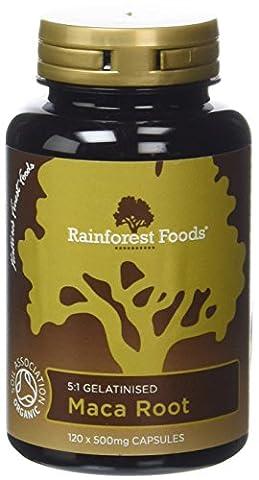Rainforest Foods Gélules de Maca Bio 120 x 500 mg