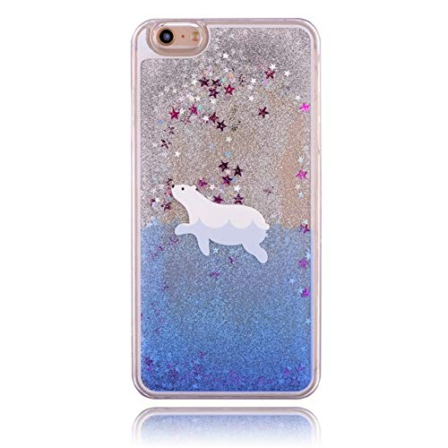 WZYSJK Quicksand flüssiges Meer eisbär wal Delphin Shark Pinguin Fall für iPhone X 5 5 S SE 6 6 S 7 8 Plus S6 S7 Rand ANMERKUNG 5 4