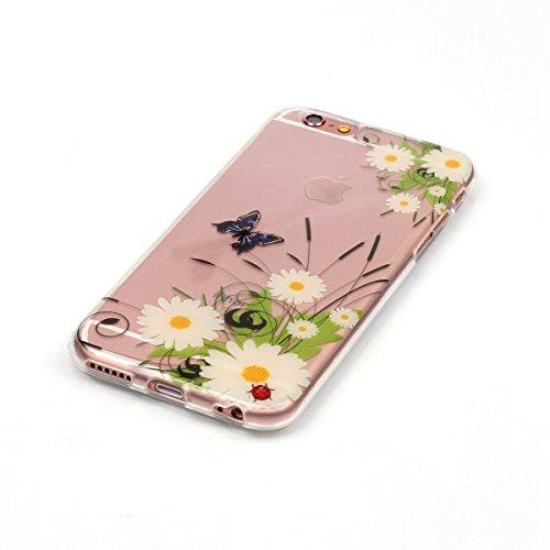 Custodia per Samsung Galaxy A32015, in morbido TPU, ultra sottile, trasparente, flessibile, SM-A300, TOYYM, colorata con disegno stampato, protettiva, motivo: fiore, con penna antipolvere Colour-22