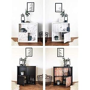 Regaleinsatz passend für Ikea Kallax und Expedit Regal Fächer | Als stufenlos verschiebbares Cover oder Tür | Nutzbar als Rückwand Raumtrenner Ordnung Deko| Ohne Schrauben | 33,5x33,5x0.5cm