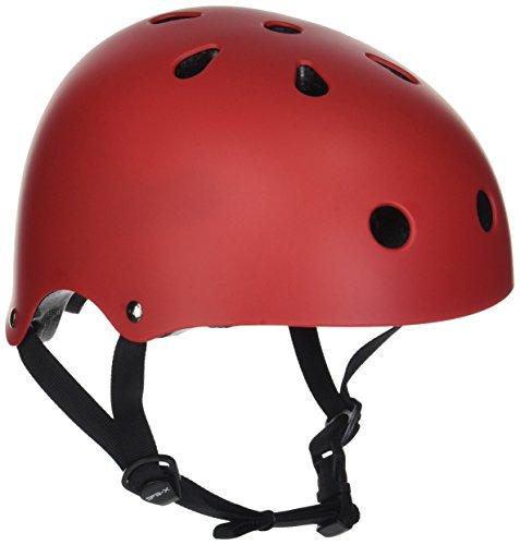 SFR Helm für Skater,Scooter,Biker (Rot matt, XXS - XS/ 49- 52 cm)