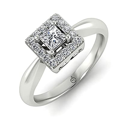 Stylori 18k White Gold and Diamond Toopau Ring