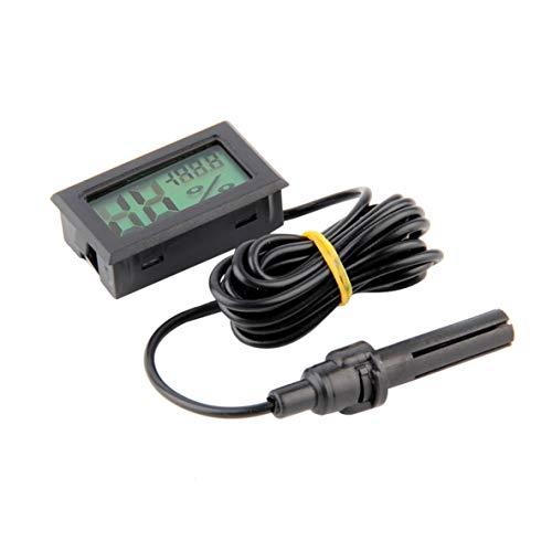 fgcnfdhdfghdfh Professionelle Mini Digital LCD Thermometer Hygrometer Luftfeuchtigkeit Temperaturanzeige Indoor Digital LCD Display Sensor (schwarz)