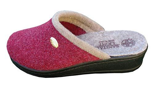 Zoom IMG-1 pantofola in lana cotta bordo
