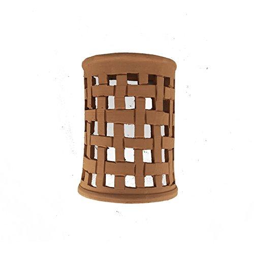Applique lampada marocchina in terracotta naturale fatta a mano