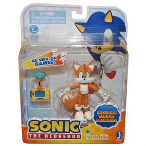 Sonic the Hedgehog Tails 3 Inch Action Figur With Accessories Set Tails & PDA Device (Sonic Hedgehog Tails)