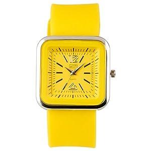 Eton 2897-9 – Reloj analógico de Cuarzo para Mujer con Correa de Silicona, Color Amarillo