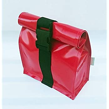 Kulturtasche aus LKW Plane mit Steckschließe, Reisetasche von TITA BERLIN