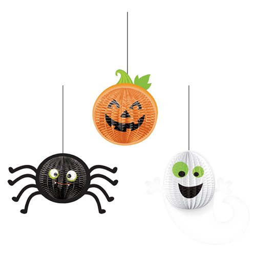 Amscan International 248218 3D Hängende Dekoration grausam, Gruppe Set (Für Designs Halloween Gruppe Spaß)