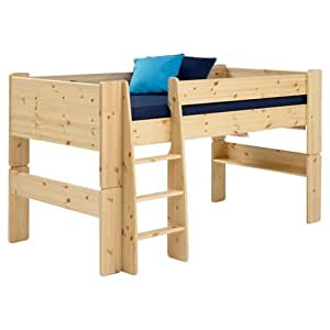 Steens Pine Mid Sleeper Raised Childrens Single Bed Frame