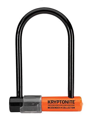 Kryptonite, Antifurto a U per bicicletta Messenger Mini Plus, Nero (schwarz - schwarz)