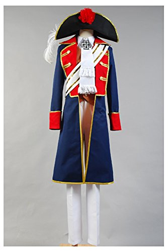Hetalia: APH Axis Powers Preußen Cosplay Kostüm Herren (Cosplay Kostüme Hetalia)