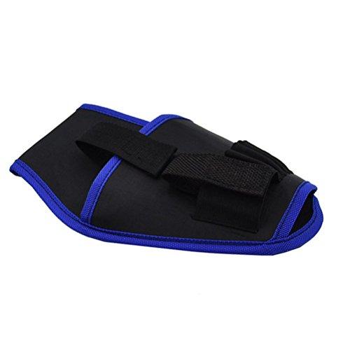 OUNONA Fondina per trapano portautensile portatile con cintura porta attrezzi per elettricista portatile per trapano a batteria al litio(bordo blu)