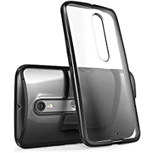 Motorola Moto X Style / Pure Edition (2015 Release) Case, i-Blason Scratch Resistant [Halo Series] Clear Case / Cover / Carcasa / Caja / Funda (Black)