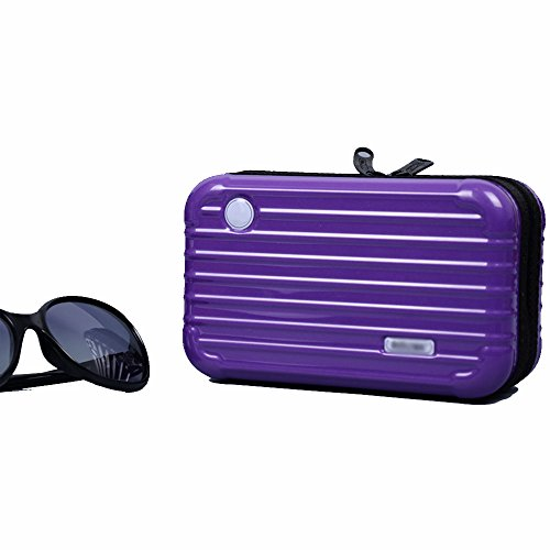 Anne Air Wash Bag Kit Reise-Kosmetiktasche Tasche Mini Trunk Wasserdicht PC Handtasche violett