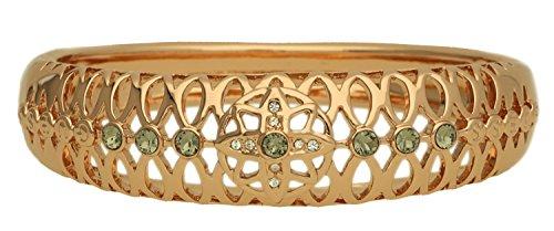 Guess Damen-Armreif Blossom Edelstahl teilvergoldet Kristall schwarz 20 cm-UBB61033-S