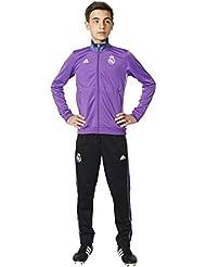 adidas Real Madrid Cf Pes Y - Chándal para niños de 13-14 años, color morado / blanco