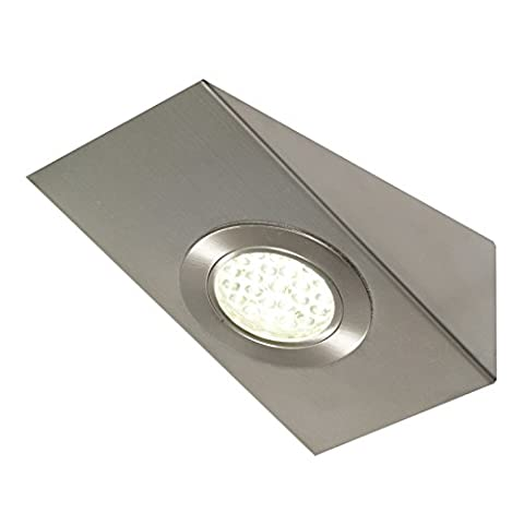 LED Me® Edelstahl Dreieck unter LED Schrank/Schrank Licht/Einbauleuchte in gebürstetem Chrom finish Modern Wedge Light 2.5W in Cool White 6000K