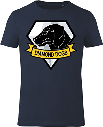GOZOO Metal Gear Solid T-shirt Uomo Diamond Dogs 100% Cotone, Stampa di Alta Qualitá Blu L