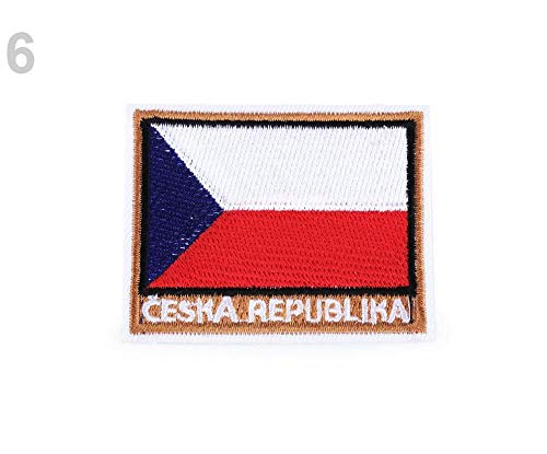 1pc 6 Como Foto República checa Hierro-sobre Parche