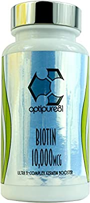 Biotin 10,000 IU By Optipure81 - Made In The UK from Optistrong Labs Ltd