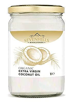 1L Organic Extra Virgin Raw Coconut Oil (cold-pressed) by Sevenhills Wholefoods
