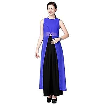 Eavan Women's Polyester Kurta(EA1514_XS_Blue_X-Small)