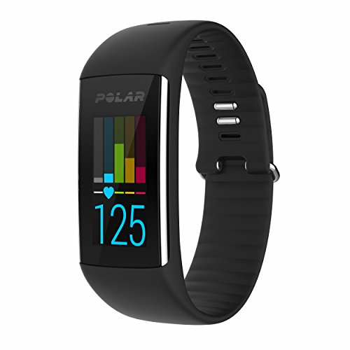 Polar A360 Fitness Tracker with Wrist Heart Rate Monitor (Black, Large)