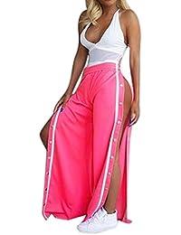 2271d443e738 Femmes Casual Pantalons éVaséS, OverDose Taille Haute Pantalon Jogging  Pantalon DéContracté Avec Boutons-Pression
