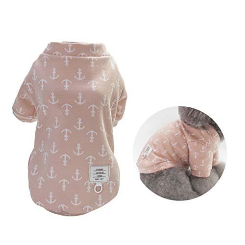 Baumwolltuch Haustier Hund Mantel Herbst Winter, Gemütliche Tragende Stilvolle Entzückende Hund Pullover Kostüme, Hund Shirt, Weihnachten Kostüme Rosa - ()