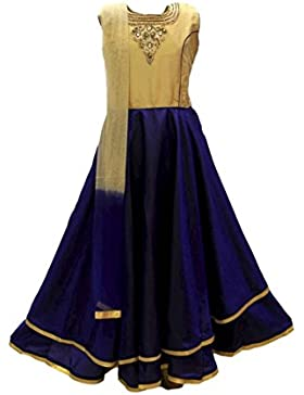 GCS2743 azul real y Traje de Churidar Burlywood chica Indian Bollywood Fancy Dress