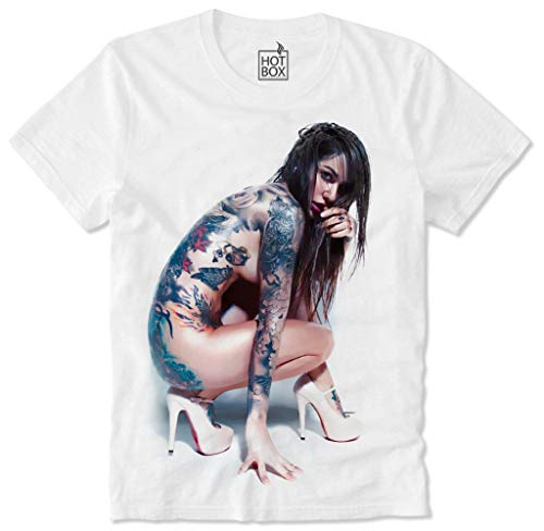 Girl Nude Pin Up Tattoo Ink Punk, XL ()