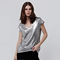 Lee Cooper Blouses For Women, Silver XS