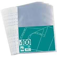 ELBA - Portafolio de plástico (A4, 100 unidades, 0,05 mm), transparente