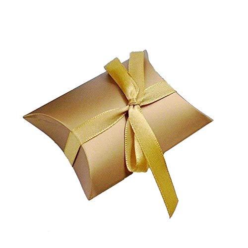 JZK 50 Oro scatola portaconfetti scatolina bomboniera segnaposto portariso pensiero per matrimonio compleanno Natale anniversario 50 anni laurea