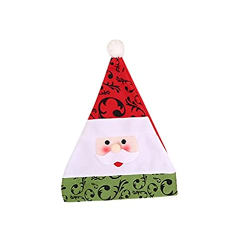 Chapeaux Joyeux Noël, Famille Casquettes de Mode de Noël pour Fête (40*30cm, A)
