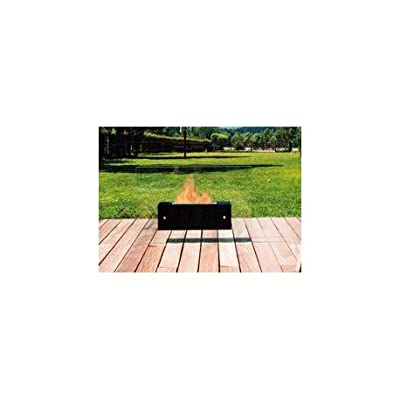 Fireplace Bio Ethanol Freestanding Valeta Large Black Bio-Blaze