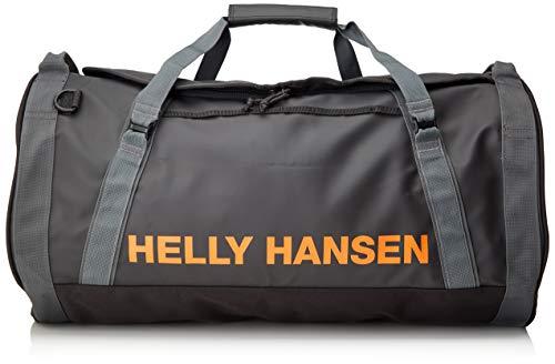 Helly Hansen HH Duffel Bag 2 Bolsa de Viaje, Unisex Adulto, Grey Ebony/Orange/White, S 50 litros