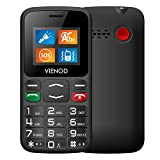 VIENOD V105 2G Big Button Mobile Phone For Elderly, Dual SIM Unlocked GSM