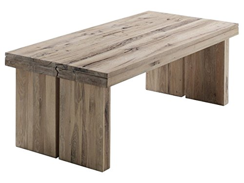 """Esszimmertisch Esstisch Holztisch Küchentisch Tisch Massiv rechteckig \""""Dublin I\"""" (Eiche Gekälkt, 260x100 cm)"""