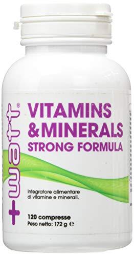 Watt +, vitamins & minerals, vitamine e minerali 120cpr