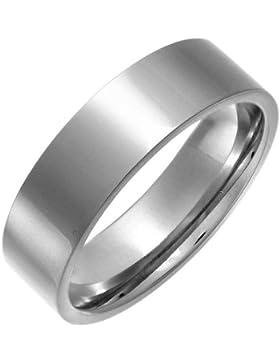 Theia Ring Titan Flach Court Form poliert metallisch 7mm